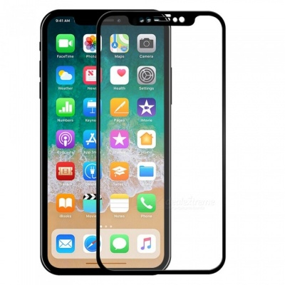 ASLING 3D Arc Edge Explosion-proof Tempered Glass Full Cover Screen Protector for IPHONE X - Black