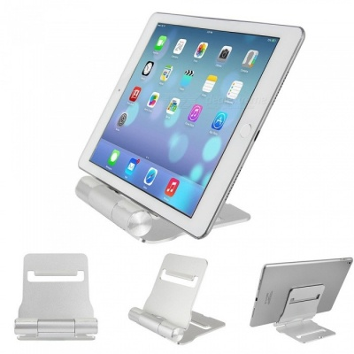 Aluminum Alloy Desktop Stand Universal Mobile Phone Tablet PC Stand Holder - Silver