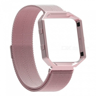 Miimall Fitbit Blaze Accessories Band, Milanese Stainless Steel Bracelet Strap Band with Frame Housing for Fitbit Blaze - Pink