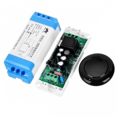 KJ-104-433MHZ AC85-250V Mini Round Wireless Remote Controller Digital Switch for Motor, LED Lamp, Power Doors, Windows Control