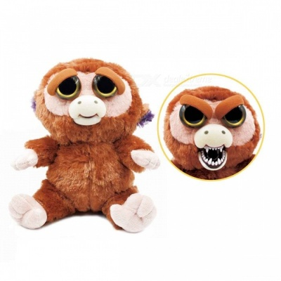 Mischievous Adorable Cute Angry Face Changing Plush Doll Toy Gift for Children