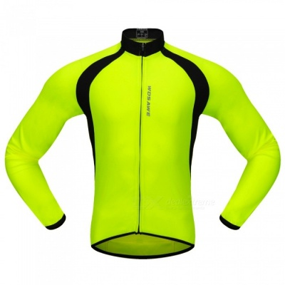 BC228 Sports Long-Sleeve Cycling Jersey - Fluorescent Green (S)