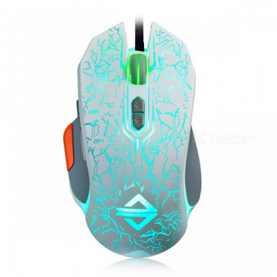 AJAZZ GT Elite Edition Portable Programmable USB Wired Gaming Mouse with Breathing Light for Notebook Desktop Computer