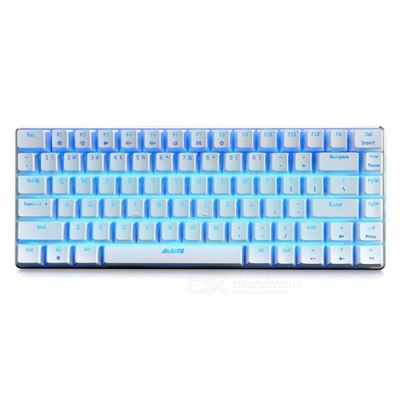AJAZZ AK33 Alloy Suspended Game Mechanical Keyboard 82-Button with Backlight - MX Blue Switch