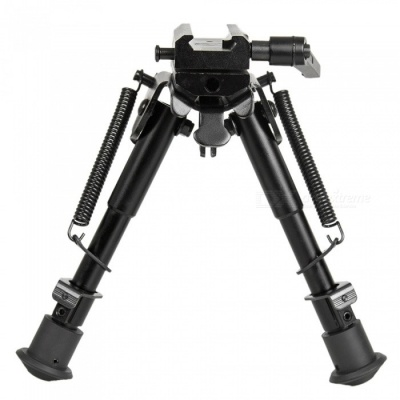"ACCU Tactical 6"" to 9"" Hunting Rifle Bipod + Rota-Pod Rotating Quick Detachable Harris Bipod Adapter for Sniper"