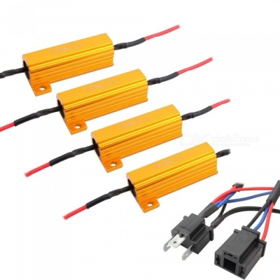 MZ H4 LED Headlight Bulb Anti-Flicker Decoder Resistor (4 PCS)