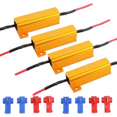 MZ 4Pcs 50W 6Ohm LED Resistors for Headlight Bulb Warning Canceller