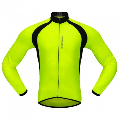 BC228 Sports Long-Sleeve Cycling Jersey - Fluorescent Green (L)