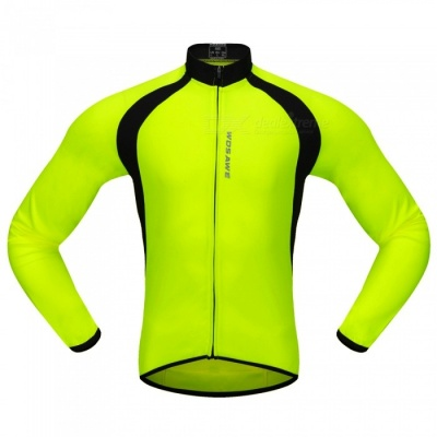 BC228 Sports Long-Sleeve Cycling Jersey - Fluorescent Green (XXL)