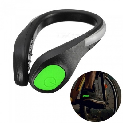 YWXLight LED Luminous Shoe Clip Light, Night Safety Warning Light  for Shoes Protector - Green