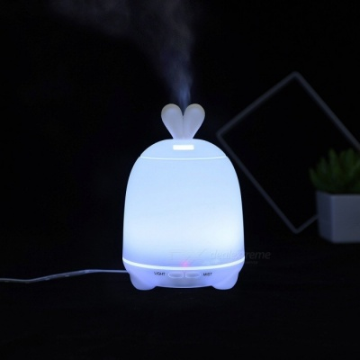 P-TOP100ML Rabbit Style Air Humidifier USB Big Fog Diffuser LED Night Light Mist Maker Power-off Protection