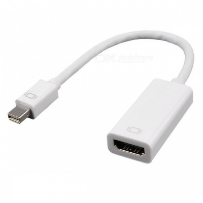 Cwxuan Mini DisplayPort DP to HDMI 1080P HD Adapter Cable - White (24cm)