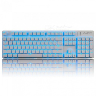 Ajazz AJ52 Alloy Game Mechanical Keyboard with Backlight - Blue Switch