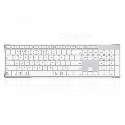AJAZZ Frontman AK3.3 Series Bluetooth Keyboard for Home Office - Silver + White