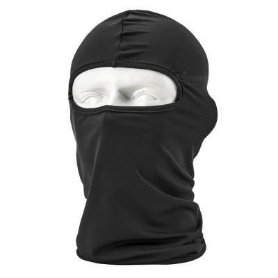 NUCKILY PK10 Unisex Winter Cycling Windproof Warm Breathable Full Face Mask Balaclava Scarf - Black