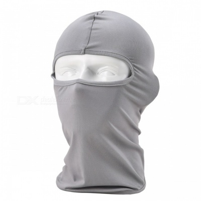 NUCKILY PK10 Unisex Winter Cycling Windproof Warm Breathable Full Face Mask Balaclava Scarf - Grey