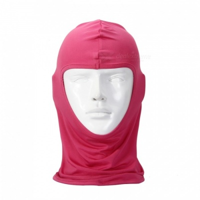 NUCKILY PK10 Unisex Winter Cycling Windproof Warm Breathable Full Face Mask Balaclava Scarf - Deep Pink