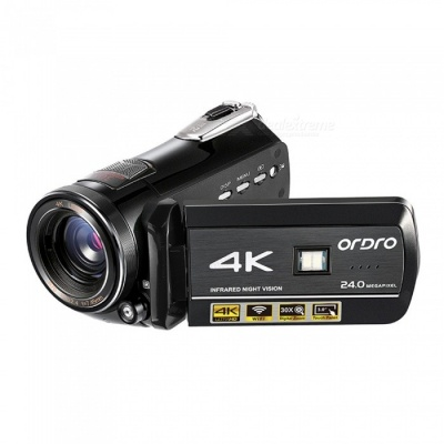 Ordro HDR-AC1 4K UHD DV 24MP Digital Camcorder w/ Infrared Night Vision Light Multiple Function