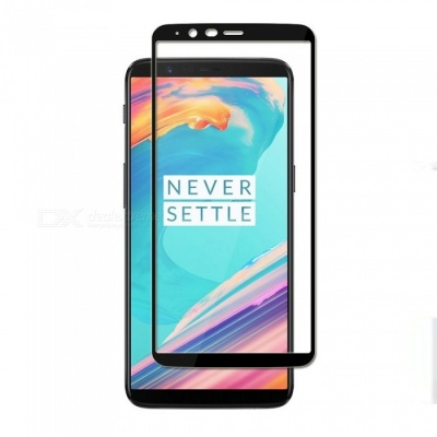 Naxtop Tempered Glass Full Screen Protector for Oneplus 5T - Black