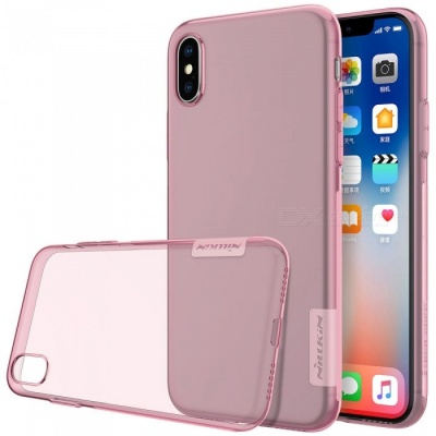 Nillkin Soft TPU Protective Cover Case for Apple IPHONE X - Pink