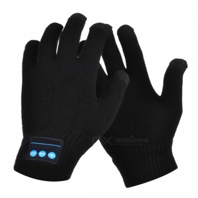 CTSmart Warm Touch Screen Outdoor Gloves, Support Bluetooth Hands-Free Call - Black (One Size)