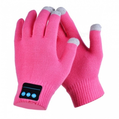 CTSmart Warm Touch Screen Outdoor Gloves, Support Bluetooth Hands-Free Call - Pink (One Size)