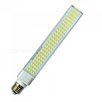 E27 30W 6000K 1920LM 96-LED 5730SMD Super Bright Energy-Saving Horizontal Plug Light, Cross-Hatched Aluminum LED Lamp