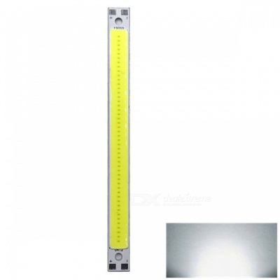 ZHAOYAO 120x10mm 10W DC 12-14V Dimmable COB LED Light - Cold White (1 PC)