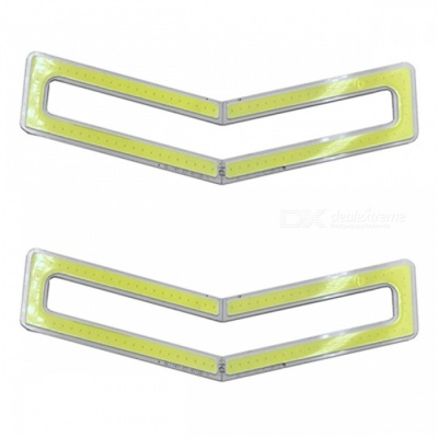 ZHAOYAO 141x53mm 8W DC 12-14V Dimmable COB LED Light - Cold White (4 PCS)