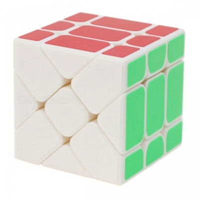 YJ Fisher 57mm 3x3x3 Smooth Speed Magic Cube Puzzle Toy for Kids Adults - White