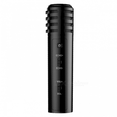 ZHAOYAO K Song Singing Microphone for Mobile Phone and PC Computer - Black