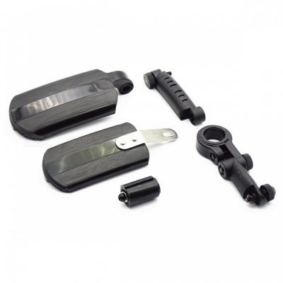 Universal Telescopic Extendable Fender for Bicycle - Black (Style B)