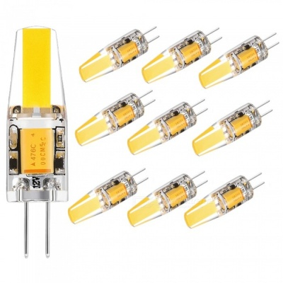 Sencart G4 COB LED Cold White 360 Degree Beam Angle Crystal Spotlight Bulb, AC/DC 12V (10 PCS)