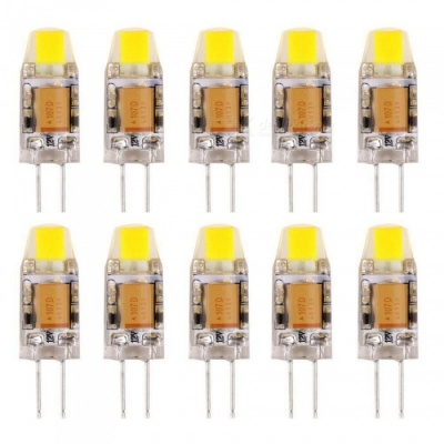 Sencart 10Pcs 2W G4 COB LED Non-Diammable Light Bulbs - Cold White