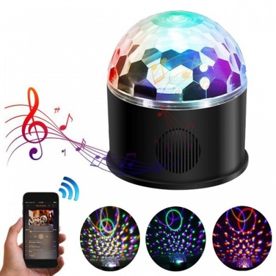 YouOKLight 9-Color Remote Control USB Charging MP3 Bluetooth Speaker, RGB Magic Crystal Ball KTV Disco Party Strobe Stage Light