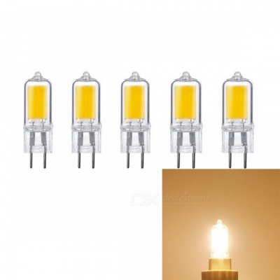 JRLED G5.3 5W COB Dimmable Warm White LED Light Bulbs (AC 220V / 5 PCS)