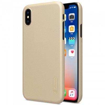 NILLKIN PC Hard Plastic Cover Case for IPHONE X - Gold