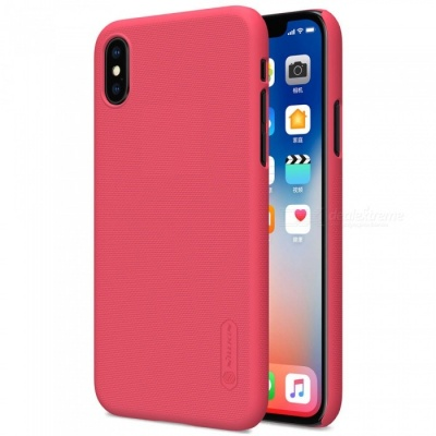 NILLKIN PC Hard Plastic Cover Case for IPHONE X - Red