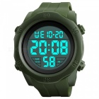SKMEI 1305 50M Waterproof Men's Digital Display Sport Watch With EL Light - Army Green