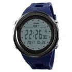 SKMEI 1246 Men's 50M Waterproof Digital Dual Time Sports Watch with EL Light - Blue