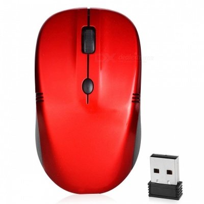 RF-5085 Mini 2.4G Wireless Optical Mouse for for Notebook Desktop Computer - Red