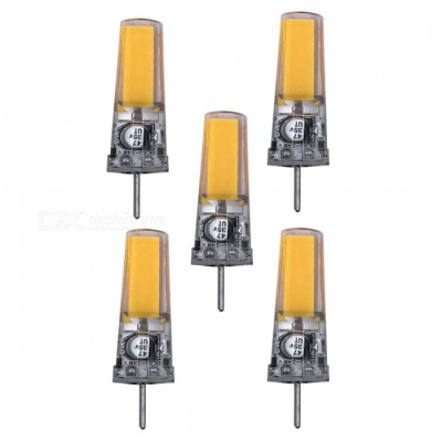 ZHAOYAO GY6.35 5W AC/DC-12V COB LED Light Silicone Lamp - Warm White (5PCS)