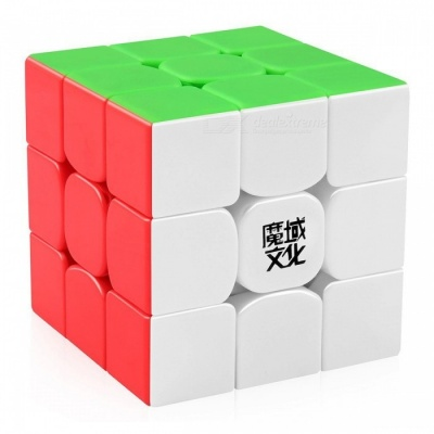 MoYu WeiLong 56mm 3x3x3 Smooth Speed Magic Cube Puzzle Toy - Colorful