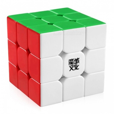Moyu Aolong 57mm 3x3x3 Smooth Speed Magic Cube Puzzle Toy for Children, Adults - Colorful