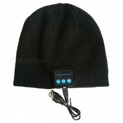 ZHAOYAO Smart Bluetooth Sports Headset Winter Warm Knitted Hat Cap, Supports Stereo Handsfree Call for Smartphone