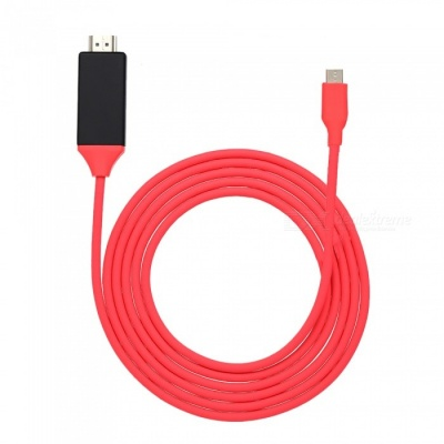 Kitbon USB 3.1 Type-C USB-C to HDMI HD Video Cable Adapter for MacBook Samsung S8 LUMIA 950 - Red