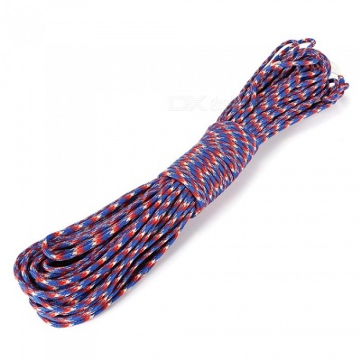 CTSmart Super Tough 31 Meters Outdoor Camping Climbing Tied Rope Seven-Core Umbrella Rope Paracord - Camouflage Blue