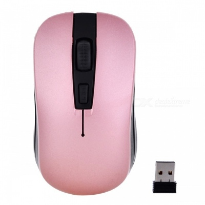 YR-801 Mini 2.4G Wireless Optical Mouse Mice for Notebook PC Laptop Computer - Pink