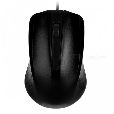 YR-3008 USB 2.0 Wired Optical Gaming Mouse for Computer PC - Black