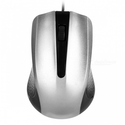 YR-3008 USB 2.0 Wired Optical Gaming Mouse for Computer PC - Silver
